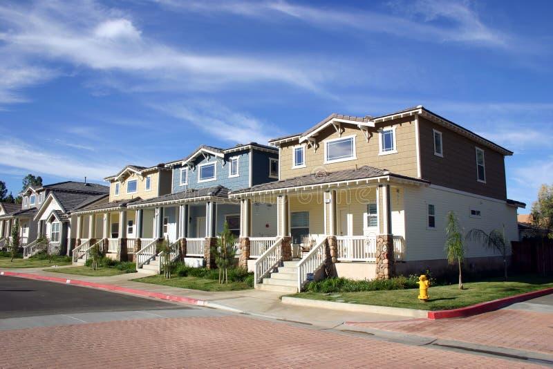 Neighborhood Houses stock photo