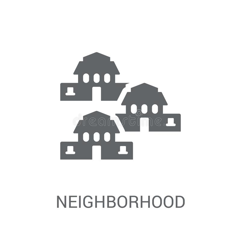 Neighborhood icon. Trendy Neighborhood logo concept on white background from Real Estate collection royalty free illustration