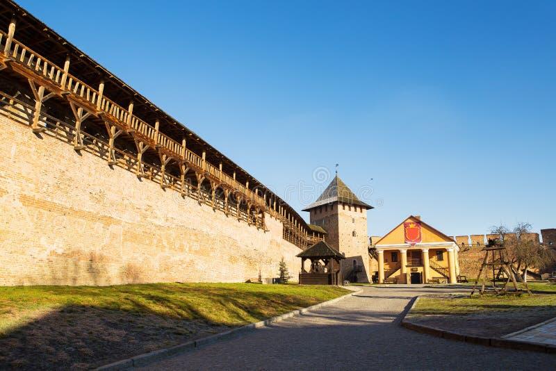 Neighborhood of the old Lubart castle in Lutsk, Ukraine.  royalty free stock photo