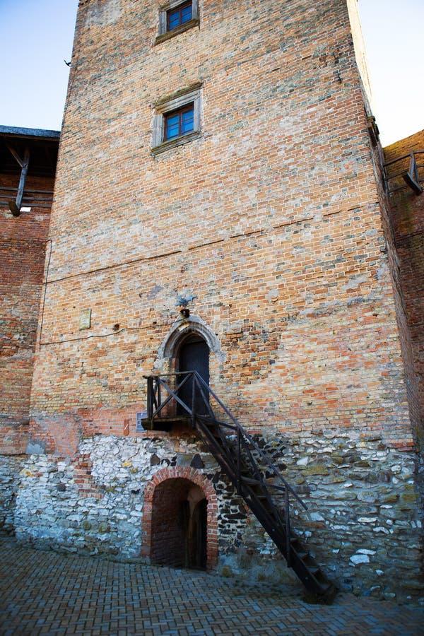 Neighborhood of the old Lubart castle in Lutsk, Ukraine.  stock images