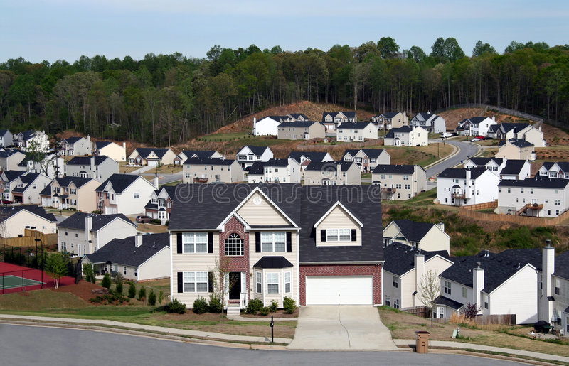 Download Neighborhood Or Subdivision Stock Photo - Image: 698708