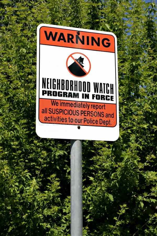 Download Neighborhood watch stock image. Image of green, helpful - 158603
