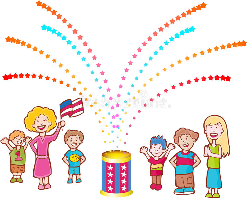 Download Neighbors Celebrate stock vector. Illustration of explosion - 9395462