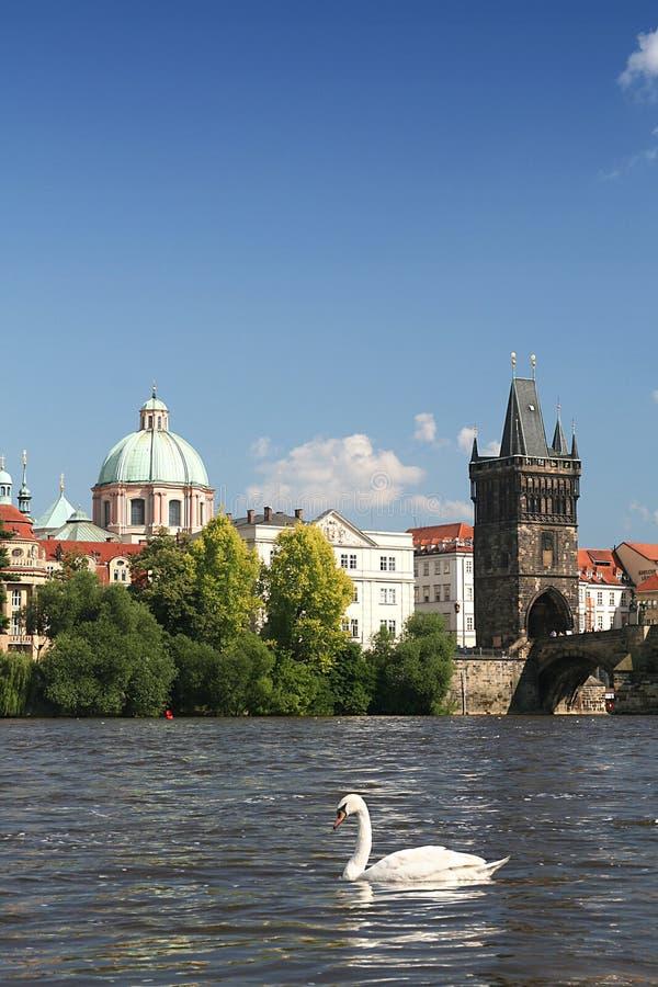 Neighbourhood Charles Bridge. In Prague stock images