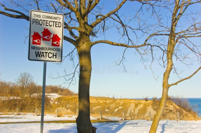 Download Neighbourhood Watch Sign stock image. Image of blue, watch - 4962613
