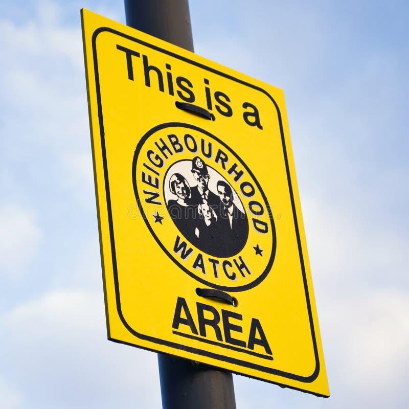 Free Neighbourhood Watch Sign Stock Image - 8280291