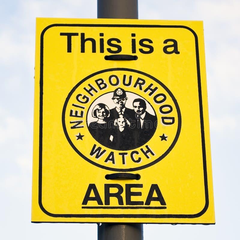 Free Neighbourhood Watch Sign Royalty Free Stock Image - 8280336