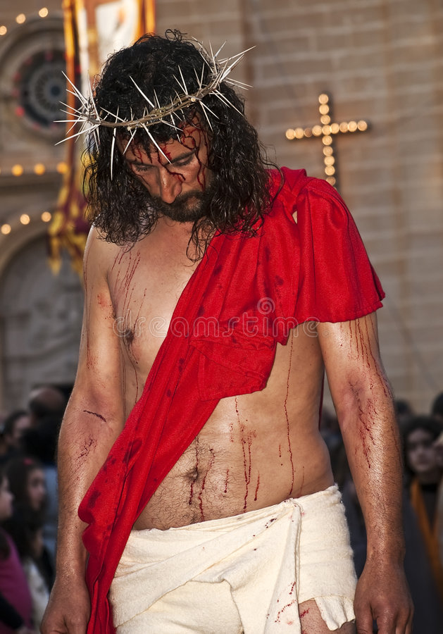 Neigung des Christ stockfoto