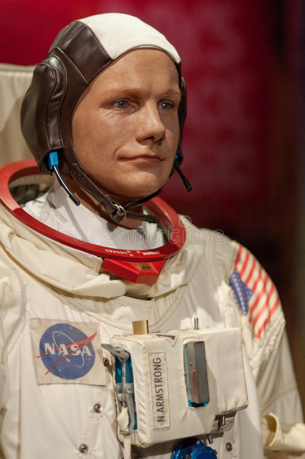 Neil Armstrong. Wax figurine of Neil Armstrong. Photo taken in Madame Tussauds Museum in New York City