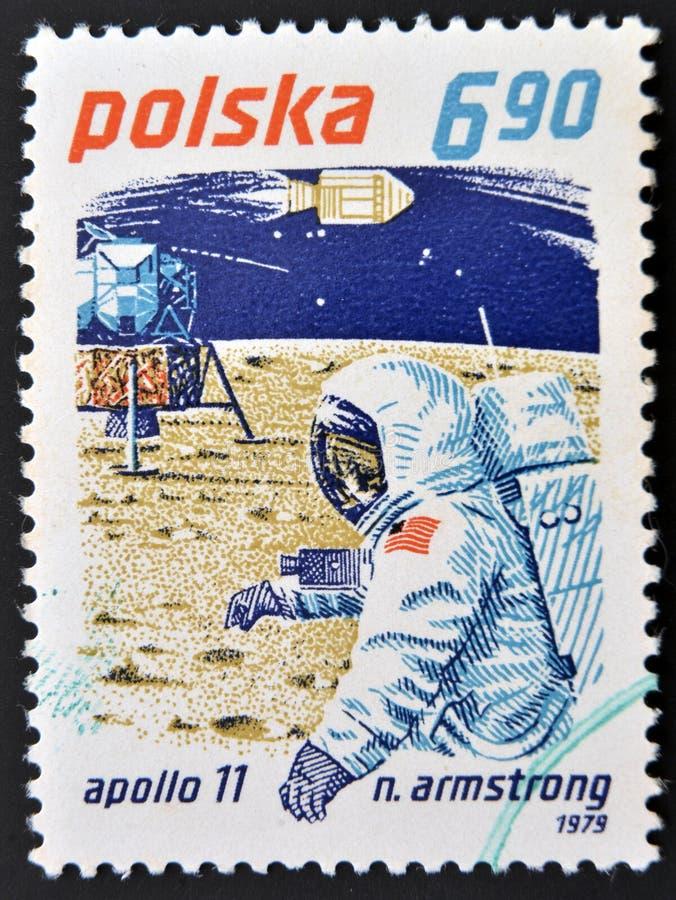 Neil Armstrong e Apollo 11 imagem de stock