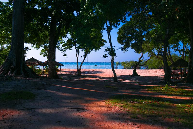 Neil Island Andaman und Nicobar stockfotos
