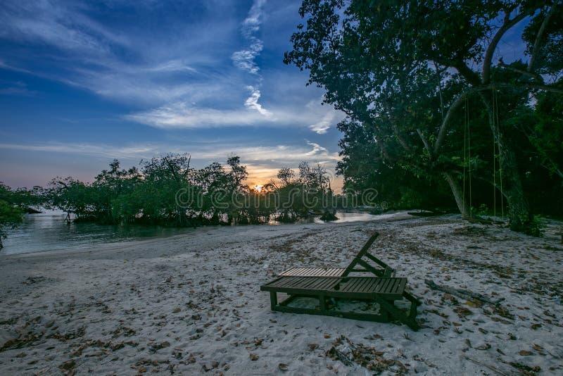 Neil Island Laxmanpur images libres de droits