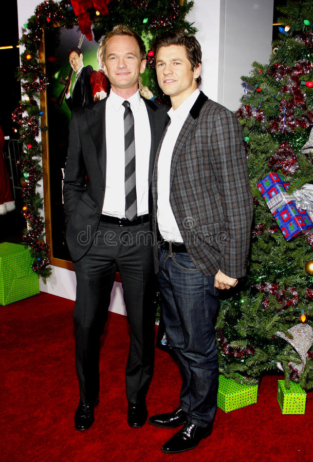 Neil Patrick Harris e David Burka fotografia de stock royalty free