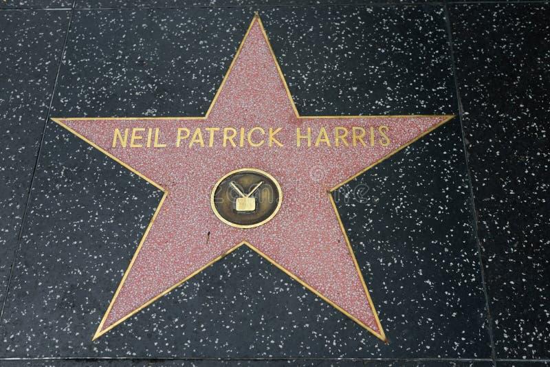 Neil Patrick Harris-ster op de Hollywood-Gang van Bekendheid royalty-vrije stock afbeelding
