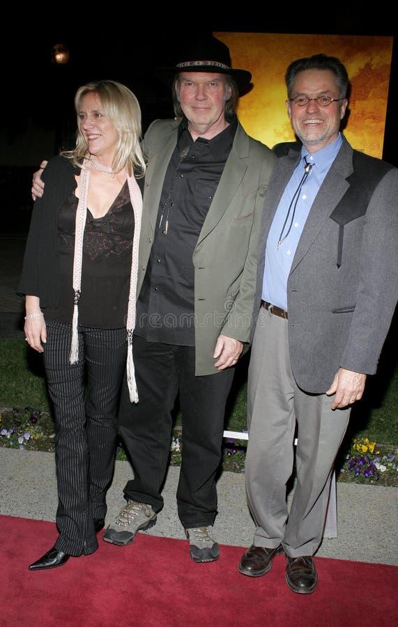 Neil Young e Jonathan Demme fotos de stock royalty free