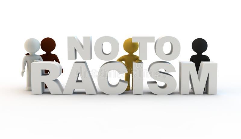 Nein zum Rassismus lizenzfreie abbildung