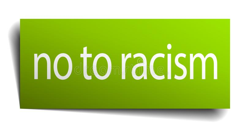 nein zum Rassismuszeichen stock abbildung