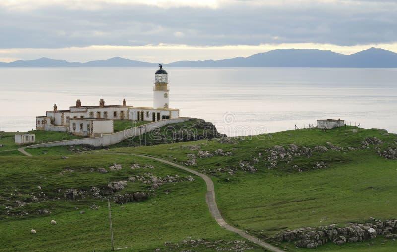 Neist-Punktleuchtturm im Westteil der Insel von Skye in Schottland lizenzfreie stockbilder