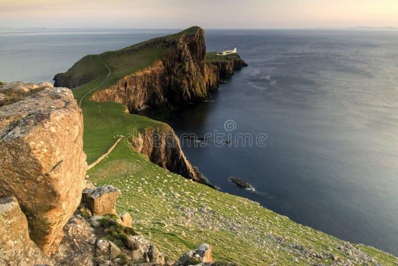 Neistpunt, Eiland van Skye, Schotland stock afbeelding