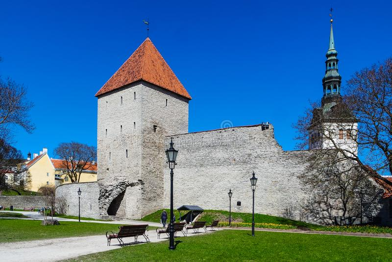 Neitsitorn museum in Old Tallinn, Estonia stock photos