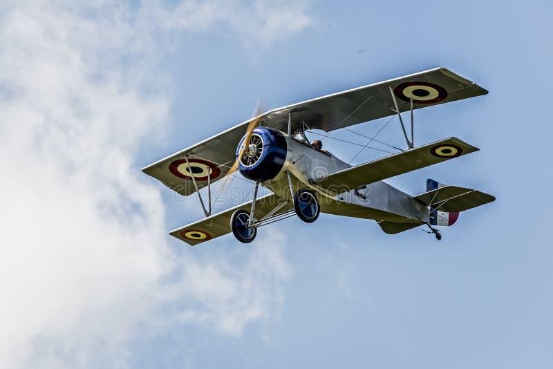 Neiuport 17法国战斗机WWI 免版税库存图片