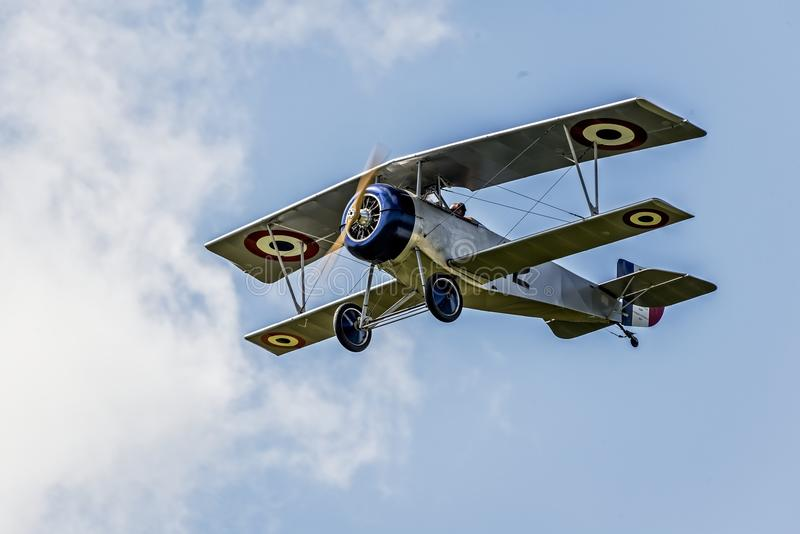 Neiuport 17 French Fighter WWI. Neiuport 17 had outstanding maneuverability and excellent rate of climb gave it a significant advantage over all other fighters royalty free stock image