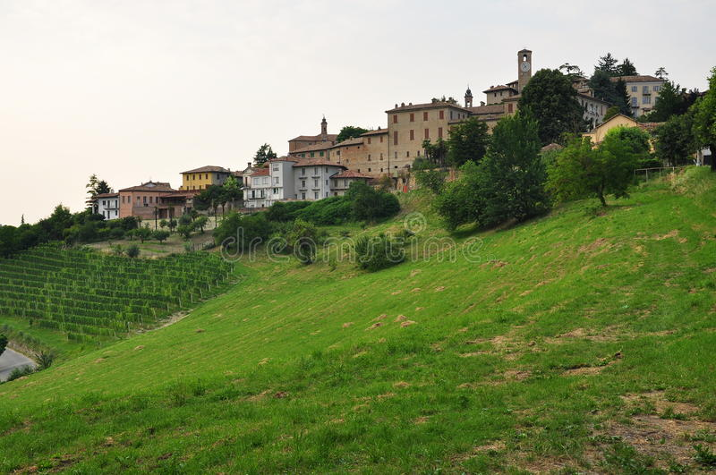 Neive, Langhe region. Piemonte, Italy. View of the Neive village. Langhe, the main Piedmont wine producing area. Barolo and Barbaresco. Unesco world heritage royalty free stock image