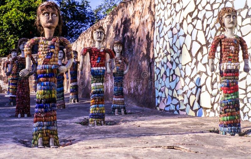 Nek Chands vaggar trädgården Chandigarh Indien arkivfoton