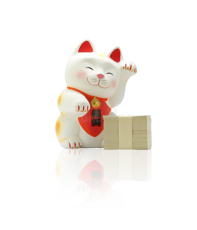 Neko Maneki - ιαπωνική τυχερή γάτα στοκ φωτογραφία με δικαίωμα ελεύθερης χρήσης