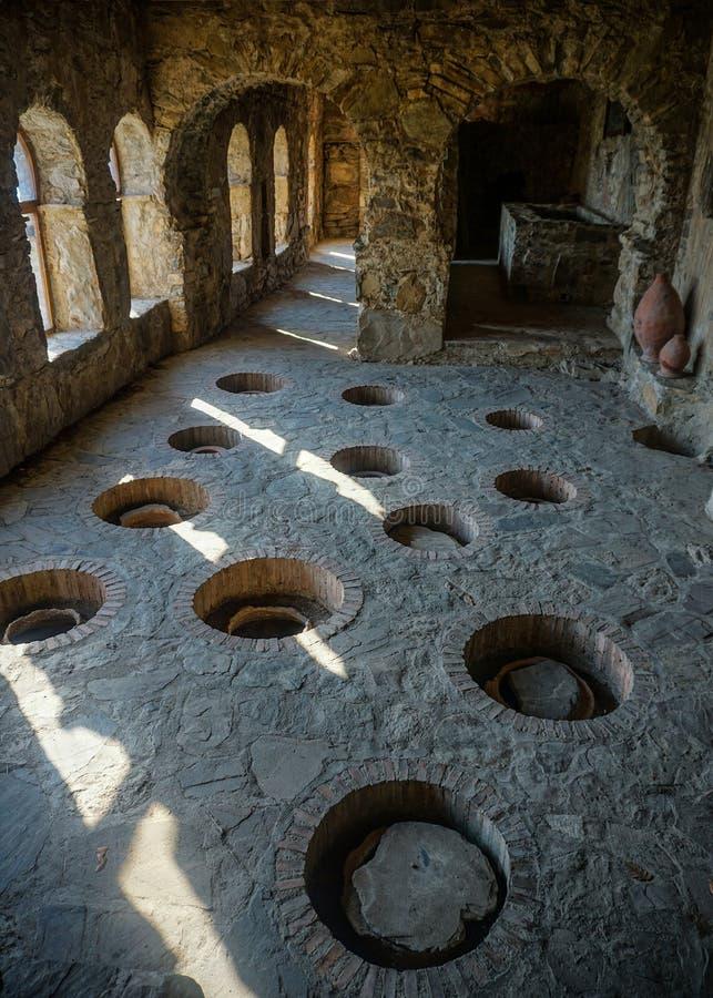 Nekresi修道院古老酿酒厂视图 库存图片