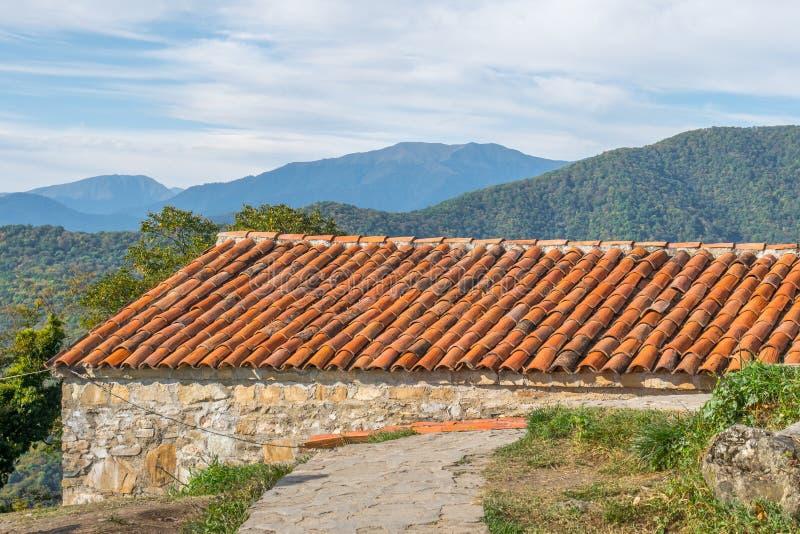 Nekresi, historic monastery in Kakheti, Georgia.  stock photo