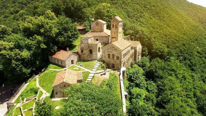 Nekresi ortodox kloster i den Alazani dalen, turism i Georgia, arkitektur fotografering för bildbyråer