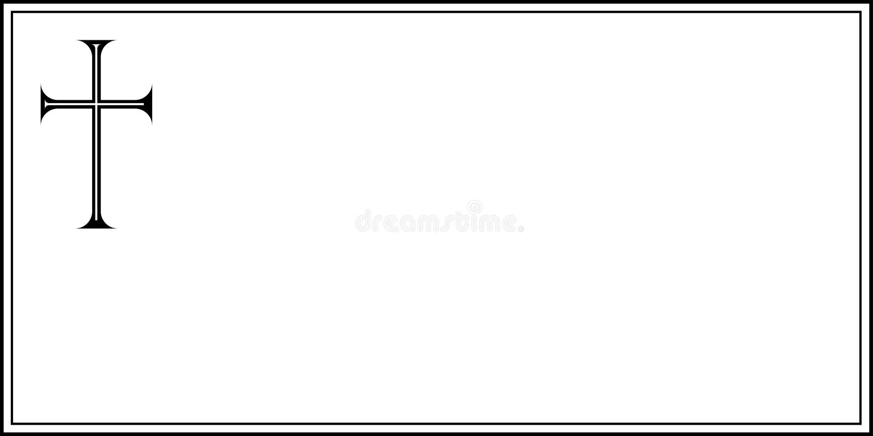 Nekrolog stock abbildung
