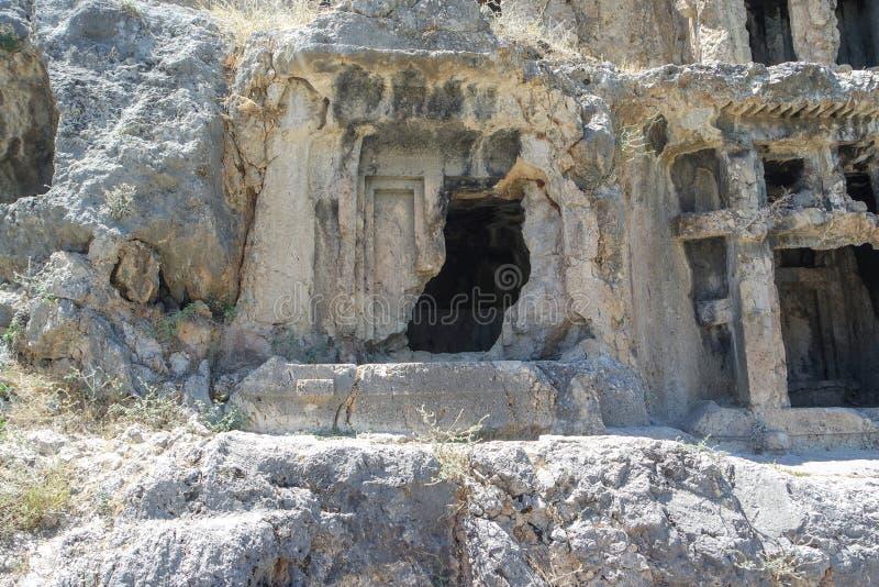 Nekropolis Hierapolis antycznego miasta widok, fethiye, mugla, indyk zdjęcie royalty free