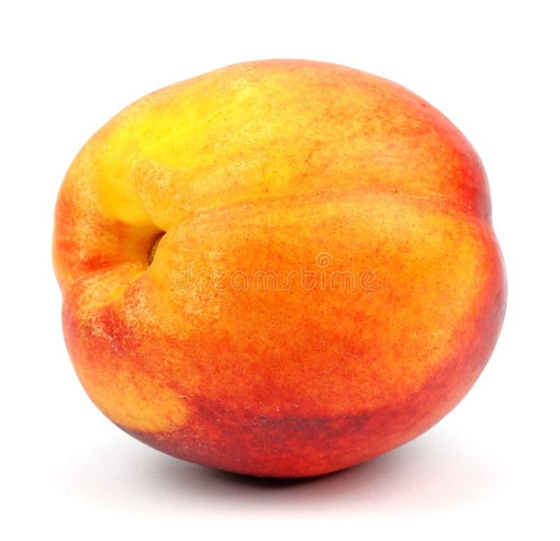 Nektarinfrukt som isoleras på vit bakgrund arkivfoton