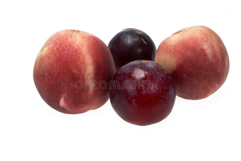 Nektaryny, brzoskwini lub śliwki owoc, słodka wyśmienicie owoc fotografia royalty free