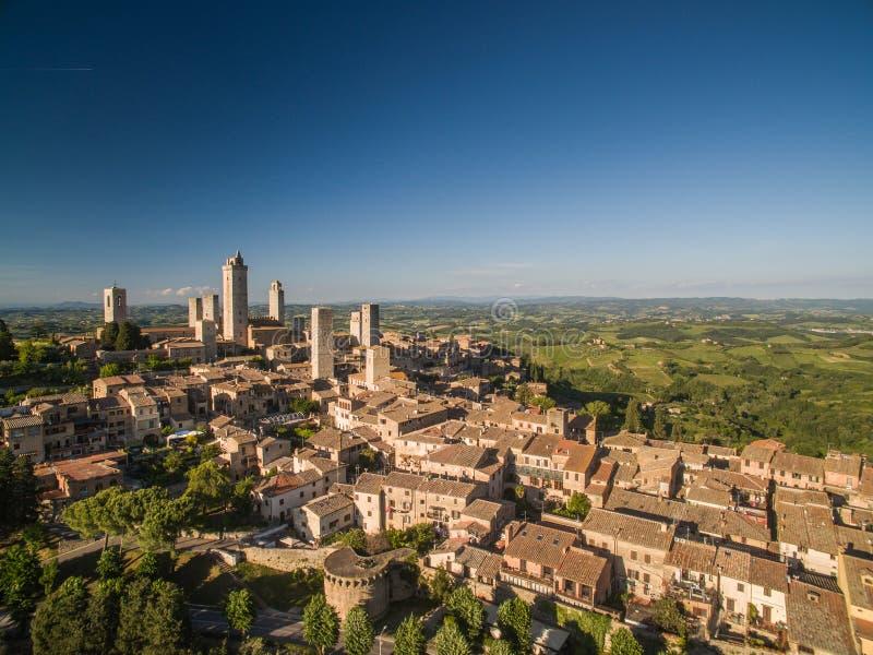 Nel cuore stesso della Toscana - vista aerea immagini stock libere da diritti