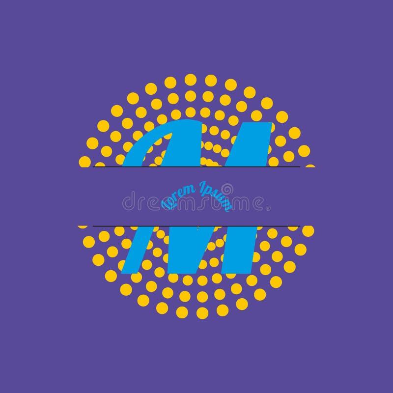 Nel disegno, la lettera m. è la lettera m. illustrazione vettoriale