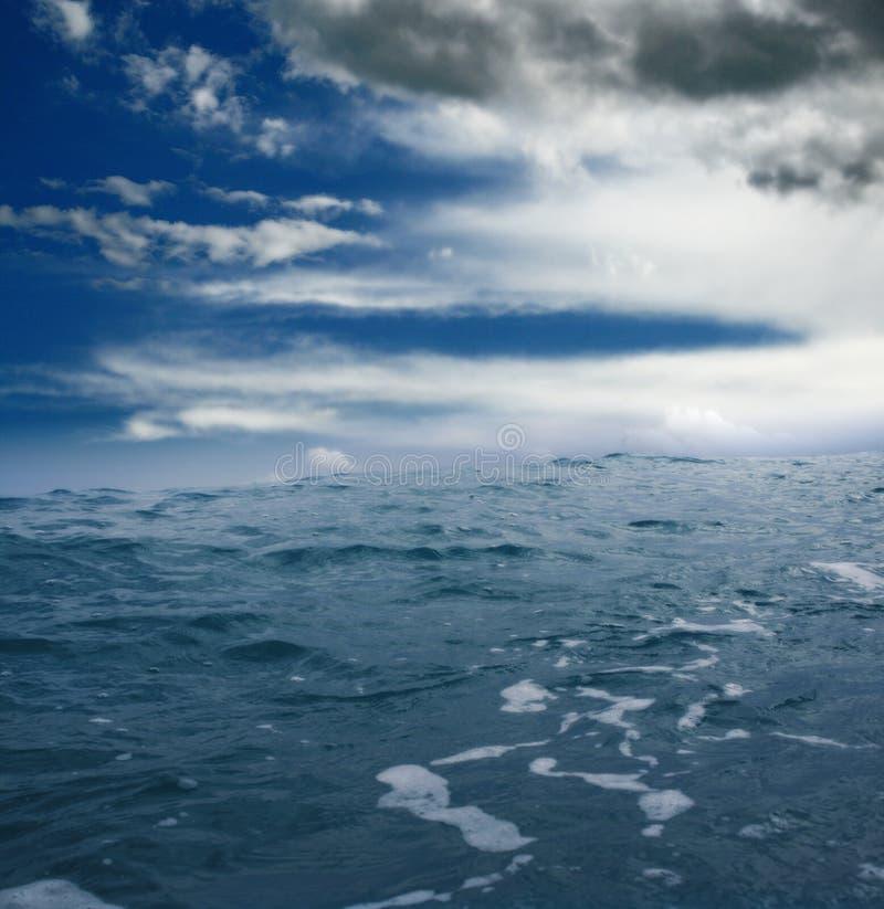 Nel mare fotografia stock