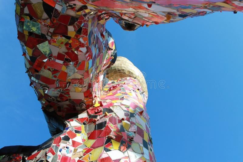 Nel paese di capalbio colorati Vetri в toscana стоковое фото