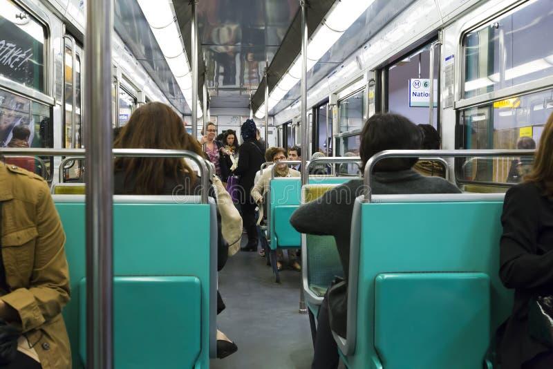 Nel trasporto della metropolitana di Parigi immagine stock libera da diritti