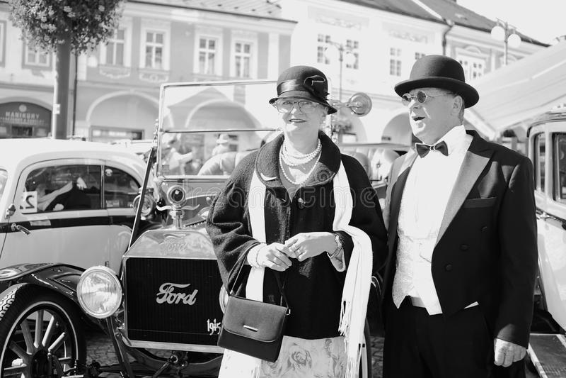 Nel vecchio festival dell'automobile fotografie stock libere da diritti