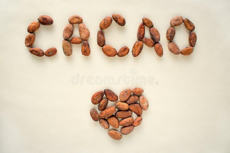 Nell'amore con cacao fotografie stock libere da diritti