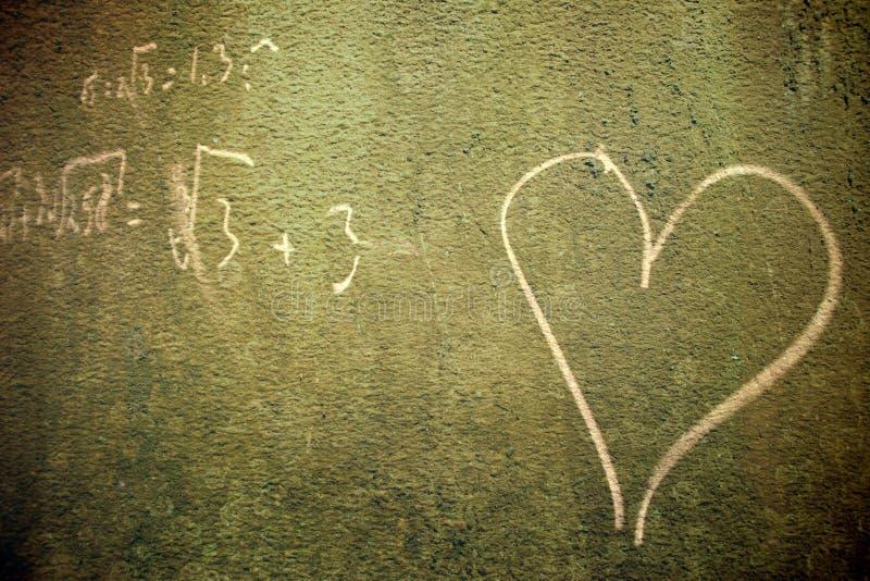 Nell'amore con per la matematica fotografia stock