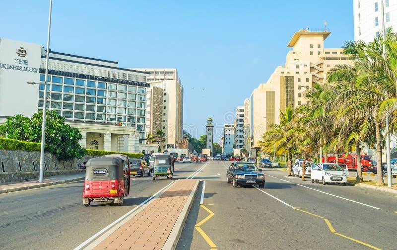 Nella città di Colombo immagine stock
