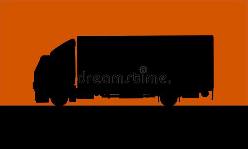Nella consegna di notte illustrazione vettoriale