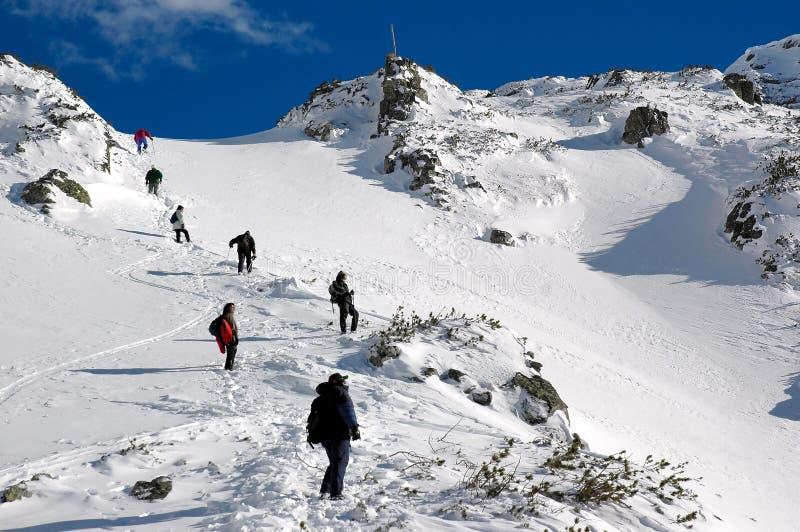 Nella montagna alta immagini stock libere da diritti