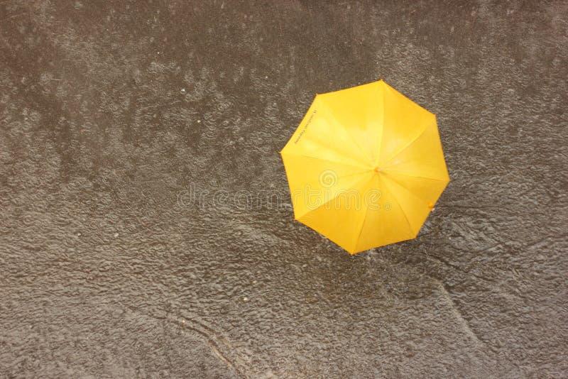 Nella pioggia sotto un ombrello immagini stock libere da diritti