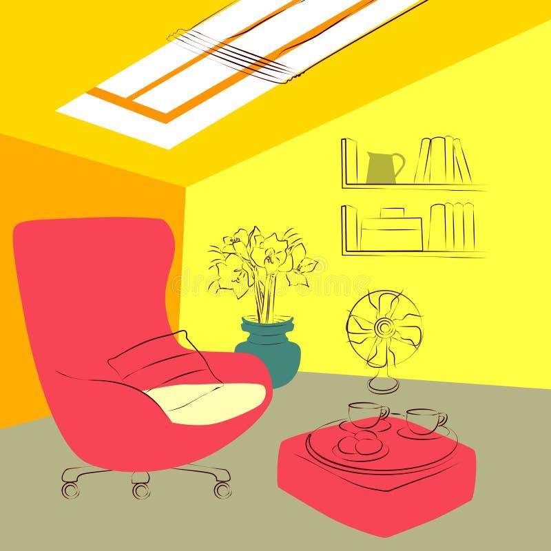 Nella soffitta royalty illustrazione gratis