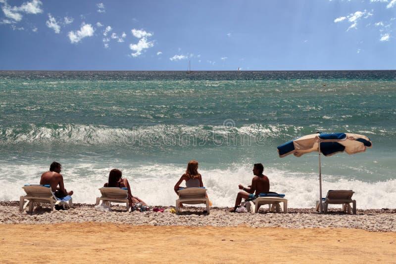 Nella spiaggia fotografia stock